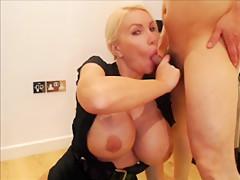 34JJ huge tits take a big load of cum dirty british talk
