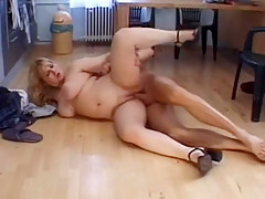 Big Tits housewife 3 blond in kitchen