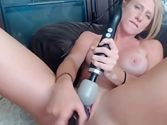 Hot Sexy Blonde Milf Enjoys Her Amazing Sex Toy