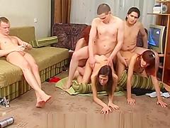 Homemade coed orgy