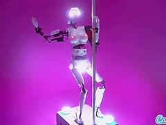 Sexbot stripper twerks