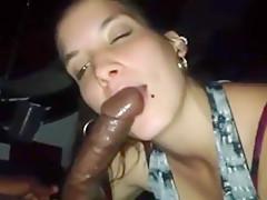 Sloppy Latina blowjob after party