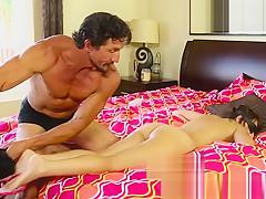 Massage beauty fingered by older guy