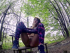 Masturbation in a quiet forest