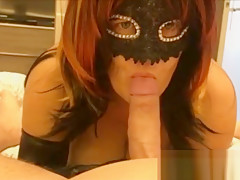 Wife gives her Husband a nice Blowjob