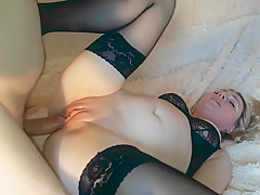 First time anal.Painful anal with russian MILF
