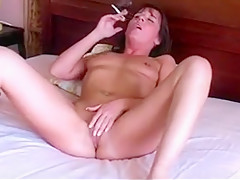 Angry Smoking Lady on bed