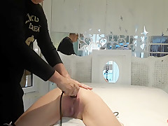 massage with squirting and fisting with spanking for sex slave