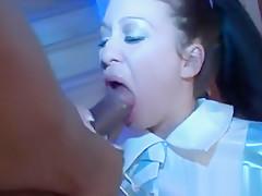 Naughty girl smoking and sucking bbc