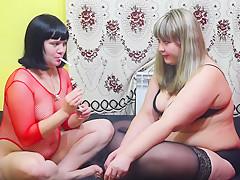 lesbians smoking-
