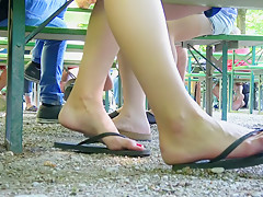 Candid flip flop shoeplay 2