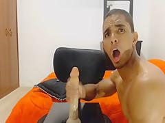Hot Colombian Dildo fucks himself