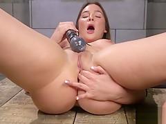 Hot pornstar dildo with orgasm