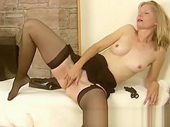 Lexa Mayfair Masturbates with her stockings