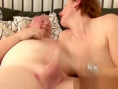 British mature in stockings gets drilled