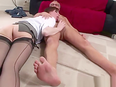 Glam euro slut gets fucked doggystyle