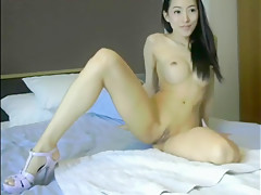 Hot Asian Big Tits Fucked by BF on Cam