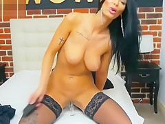 Horny Camgirl Playing with her new Sex Toy LIVE