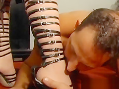 Breaking in our brand new slave boy