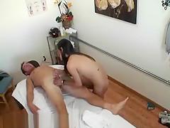 A Lovely Korean Massage Therapist Doing A Handjob