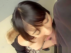 Hibiki Ohtsuki naughty chick gives excellent head