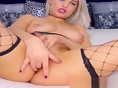 Smoking Hot Blonde Babe Fingering Her Pussy