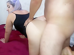Big ass blonde swinging on friend's penis