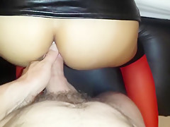 Latina Anal POV with Mini Skirt