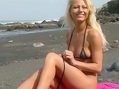 Beautiful Vanja from Ukrain earns her Vication Money on the