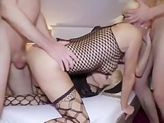 Amazing Homemade Orgy Double Penetration with Shameless MILF