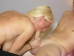 Hot German stepmother seduces and fucks young son! She likes college guys!