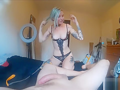 Babe Gets Facials, Creampie, Cumshots, Swallows His Cum, and More