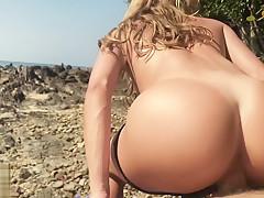 Morning Sloppy Blowjob & Fuck on the Beach - Amateur Couple LeoLulu