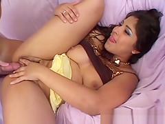 Amateur hairy Latina girlfriend anal with facial cumshot