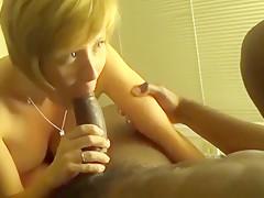 Cute Slut Sucking Big Black Cock