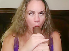 Hot Wife Tries Out A Huge Black Dildo For The First Time!