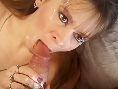 Amateur MILF facial and blowjob compilation slomotion