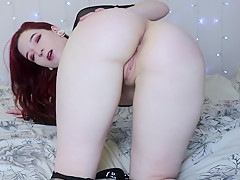 Gal Bounces and Spanks Her Big Bottom