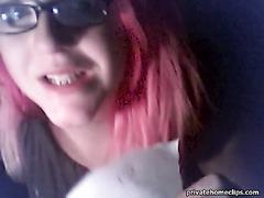 Emo ex-gf's night webcam striptease