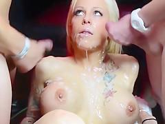 Blonde Bukkake Slut-