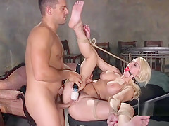 Huge boobs blonde got anal bondage sex