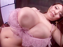 Hitomi Tanak - Asian with Monster Tits Posing in Lingerie