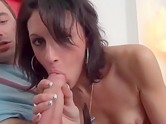 Anal casting couch of a skinny amateur french arab beurette
