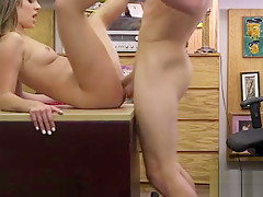 Jasmine Jae shows fat ass and gets fucked for money