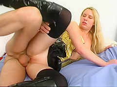 Nice blonde Alice analfucked