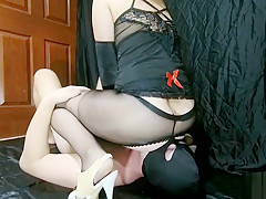 Femdom Mistress Lusinda facesitting and anal face fuck