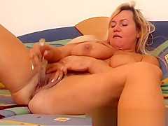 Busty mom on a hot dildo fucking session part6