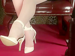 Sexy White Hose And Heels - ImLive