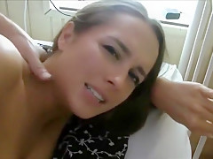 I'm wearing stockings in this homemade anal video