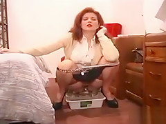 smoking Mom wearing tampon needs to pee in hotel room-